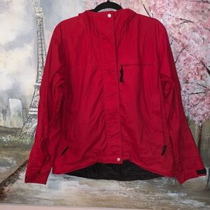 Nordica Hooded Wind/ Rain Red Jacket sz M